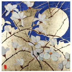Quadro Gold & Flowers 4437V